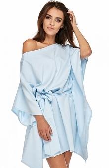 Ooh lala Milano sukienka niebieska Niesamowicie kobieca i oryginalna sukienka, będzie świetną propozycją na wyjątkowe okazje, asymetryczny fason przepieknie prezentuje się na ko...