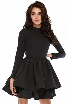 Ooh lala sukienka rozkloszowana czarna Wieczorowa sukienka będzie idealna na ...