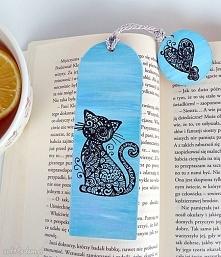Zaczarowany kot. Zakładka do książki w z kolekcji Bücherwurm