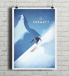 Alpy - vintage plakat