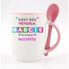 Kubek dla babci do zamóienia w naszym sklepie nadruko.pl