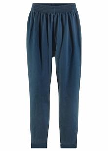 Spodnie dresowe haremki bonprix ciemnoniebieski