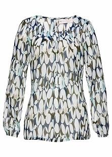 Tunika bluzkowa bonprix ciemnoniebieski z nadrukiem
