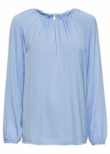 Bluzka z rękawami balonowymi bonprix perłowy niebieski
