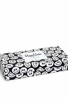 Giftbox Happy Socks - Black and White 4Pack (XBLW09-9003)