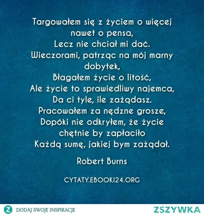 Robert Burns Cytat O życiu Na Cytaty Zszywkapl