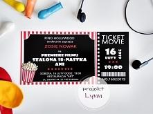 Zaproszenie urodzinowe w formie biletu do kina