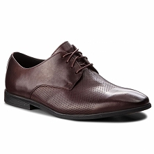 Półbuty CLARKS - Bampton Cap 261354037 Burgundy Leather