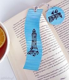 Latarnia morska. Zakładka do książki w stylu marinistycznym z kolekcji Bücher...