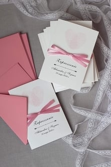zaproszenia ślubne elegancki róż