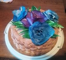 kwiaty z papieru jadalnego
