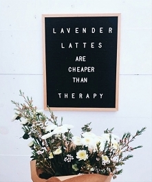 Lavender lattes are cheaper...