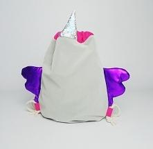 Plecak worek Jednorożec holo