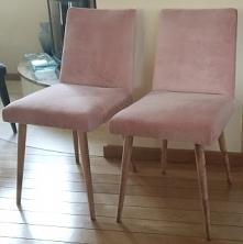 krzesła patyczaki z PRL po odnowieniu