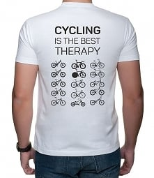 Koszulka T-SHIRT. Cycling is the best therapy