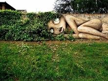 Niedziela. Odpoczynek zieleni w trawie. Art rysunku graffiti.