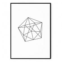 Plakat skandynawski geometr...