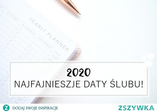 Najfajniejsze daty na ślub w 2020 - na blogu ślubnym Panna Allure, link pod fotką :)
