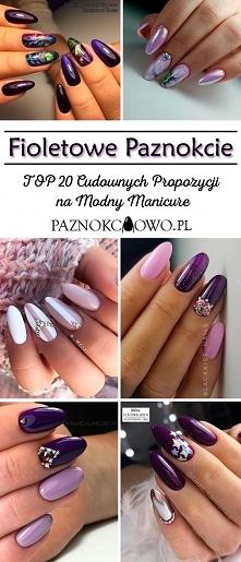 Fioletowe Paznokcie – TOP 20 Cudownych Propozycji na Modny Manicure