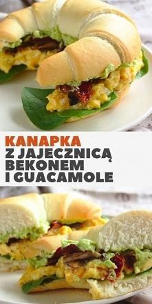 Kanapka śniadaniowa z jajec...