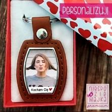 Elegancki breloczek ze zdjęciem na Walentynki dla Niego