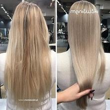 Jasny blond z perłową poświatą, to koloryzacja Agaty Kurek. O nawilżenie włos...