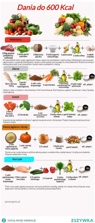 Dania do 600 Kcal, zdrowe i pożywne.  #daniado600kcal, #fit, #pureorganic, #zdrowedaniado600kcal, #zdrowejedzenie, #zdroweobiady, #zdroweprzepisy, #zdrowie