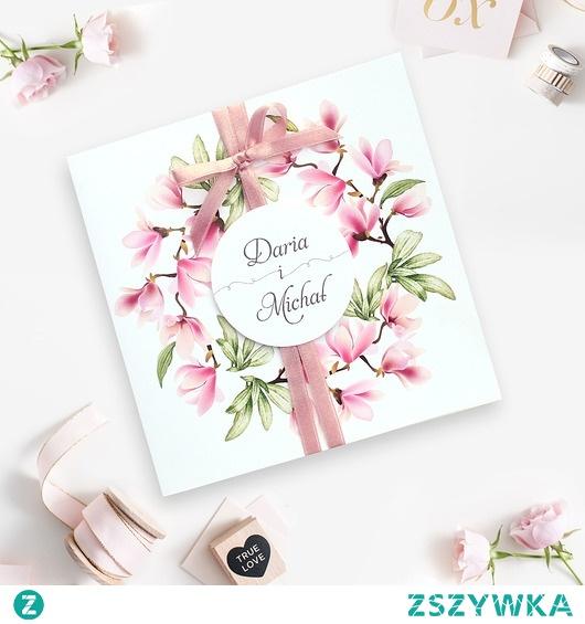 Zaproszanie ślubne wianek róż