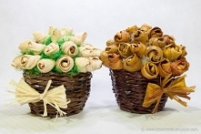 Kwiaty z liści kukurydzy
