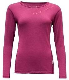 Devold Koszulka Damska Muldal Woman Shirt W/Print Plum M