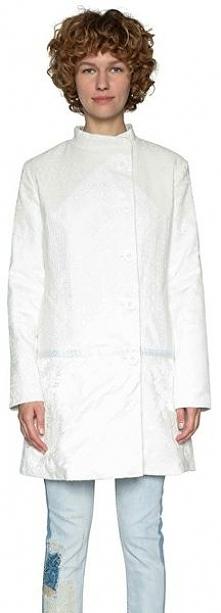Desigual Damski Płaszcz Abrig Emilie 18Swew96 1000 (Rozmiar 40)