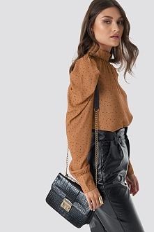 Trendyol Croco Detailed Shoulder Bag - Black