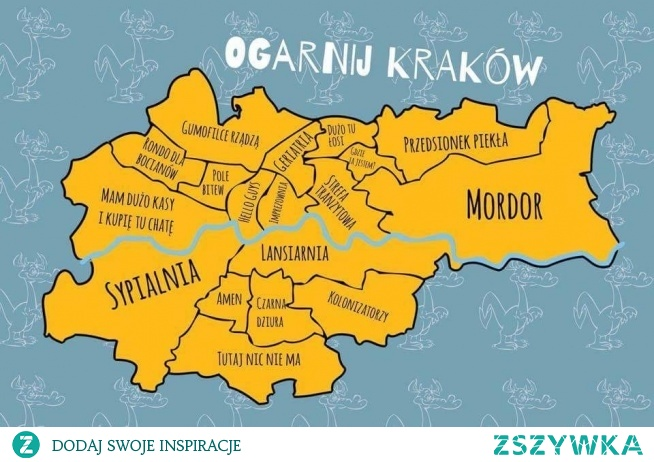 Nieoficjalna mapa Krakowa