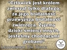 Leonardo Da Vinci - malarz, architekt, filozof, muzyk, pisarz, odkrywca, matematyk, mechanik, anatom, wynalazca, geolog, rzeźbiarz, WEGETARIANIN