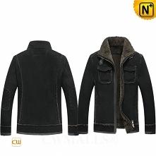 Men Winter Jackets | CWMALLS® Detroit Custom Sheepskin Bomber Jacket CW807643 [Extreme Cold Weather]