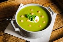 Zupa krem z groszku i brokułu! Przepis po kliknięciu w zdjęcie.