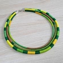 neo-etno naszyjnik  inspirowany biżuterią Masajów