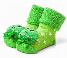 Attractive Skarpetki Dziecięce Z Żabką 17 Zielony