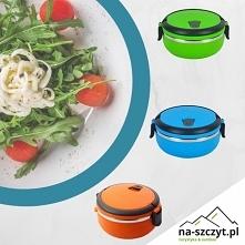 Pojemnik LunchBox - NOWOŚĆ ♨pojemność 0.7l ♨utrzymuje ciepło 2-3 godziny ♨wykonany ze stali nierdzewnej ♨wygodny uchwyt do noszenia ♨3 kolory do wyboru  Zapraszamy do zakupu! na...