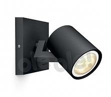 Philips Runner Hue Single Spot Black 53090/30/P8