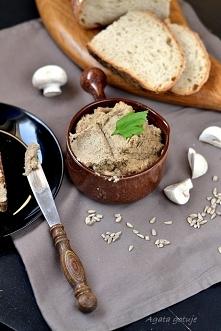 Pasta ze słonecznika i pieczarek (rozpustnie i zdrowo)