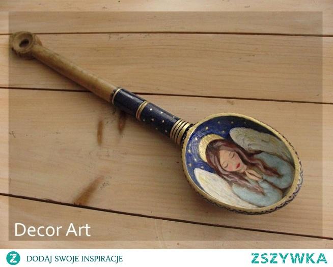 nietypowe zlecenia też się zdarzają; malowanie starej łyżki ;)