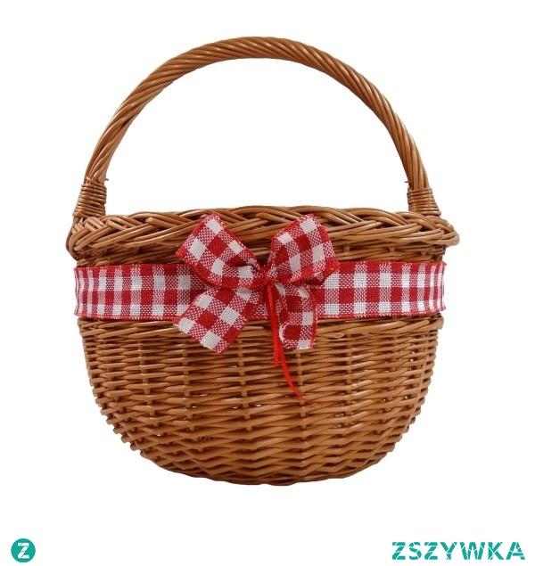 Wiklinowy koszyk, który pozwoli nam nawet na zakupach wyglądać z klasą :)