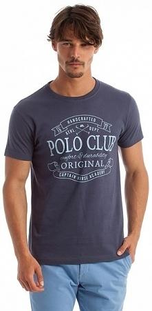 Polo Club C.H.A T-Shirt Męski M Niebieski