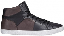 Geox Męskie Sneakersy Do Kostek Smart Black A Black / Kawa U84X2A-00043-c0630...