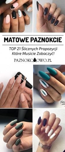 TOP 21 Ślicznych Propozycji na Matowe Paznokcie – Musicie Je Zobaczyć!