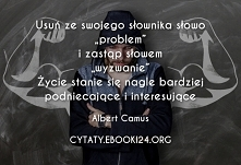 Albert Camus cytat o proble...