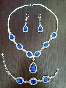 Biżuteria z koralików toho, komplet wykonany na zamówienie ze srebrnymi zakoń...