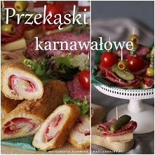 Smażone roladki z chleba tostowego z serem i salami. Proste i szybkie karnawa...
