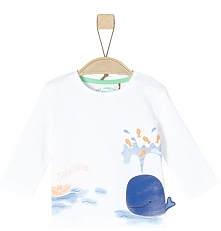 S.Oliver T-Shirt 50/56 Biały